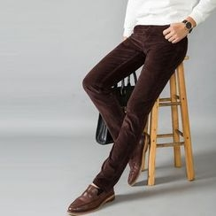 La Bleu - Corduroy Straight Fit Pants