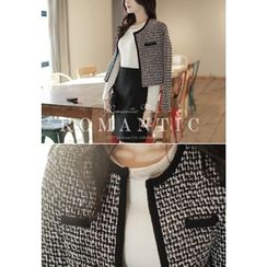 MyFiona - Open-Front Tweed Jacket