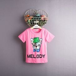 Kidora - Kids Dog Printed Short-Sleeve T-Shirt