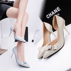 Charming Kicks - Glittered Pointed Pumps