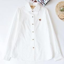 Jill & Jane - Long-Sleeve Embroidered Blouse