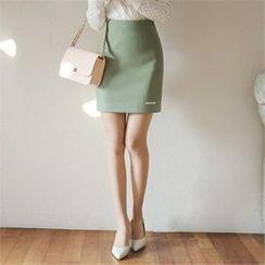 ode' - Wool Blend Mini Skirt