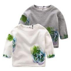 lalalove - Kids Print Fleece-lined Sweatshirt