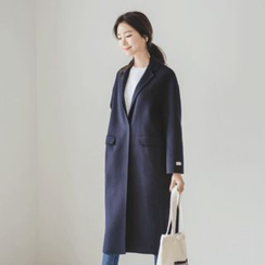 JUSTONE - Notched-Lapel Wool Blend Hand-Made Coat