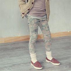 J-KIDS - Girls Camouflage Skinny Pants