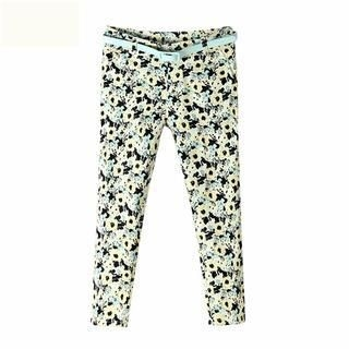 Flower Idea - Floral Cropped Pants