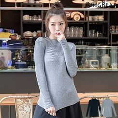 RingBear - Long Sleeve Ribbed Top