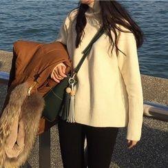 Dute - Plain Turtleneck Sweater