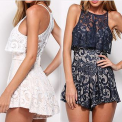 Chika - Lace Playsuit