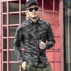 Mannmix - Print Long-Sleeve Knit Shirt