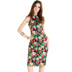 59 Seconds - Floral Bodycon Sleeveless Dress