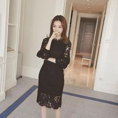 Dream Girl - 3/4-Sleeve Lace Dress