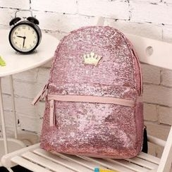 Seok - Sequined Backpack