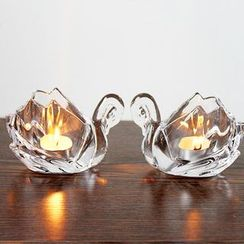 Thula Design - Glass Swan Candle Holder