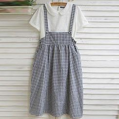Usagi - Gingham Jumper Skirt