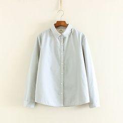 三木社 - 純色長袖襯衫
