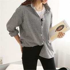 PIPPIN - Gingham Loose-Fit Shirt