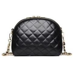BeiBaoBao - Bow-Accent Quilted Cross Bag
