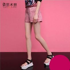Cloudwood - Printed Flat-Front Shorts