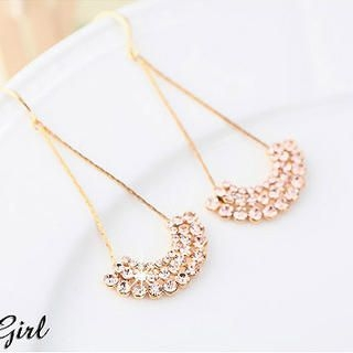 Miss Girl - Rhinestone Drop Earrings