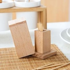 Home Simply - Wooden Toothpick Holder