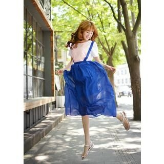 Bongjashop - Long Chiffon Jumper Skirt