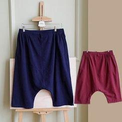 Rosadame - Elastic Waist Harem Shorts