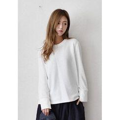 GOROKE - Long-Sleeve Slit-Cuff T-Shirt