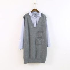 Ranche - V-Neck Long Knit Vest