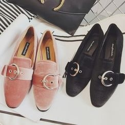 Crystella - Strapped Loafers