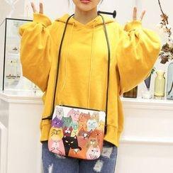 Youme - Cat Print Crossbody Bag