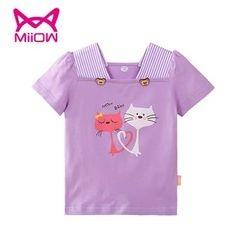 MiiOW - Kids Cat Print Short-Sleeve T-Shirt