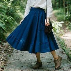 Jolly Club - Tiered Maxi Skirt
