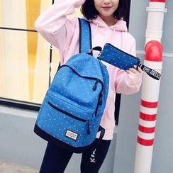 AIQER - Set of 2: Polka Dot Backpack + Pencil Case