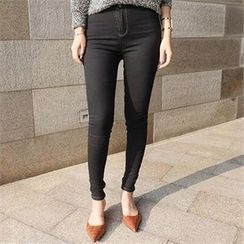 LIPHOP - High-Waist Skinny Jeans