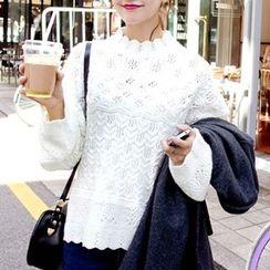 Hidari - Pointelle Knit Sweater
