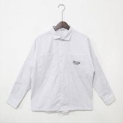 Mr. Cai - Embroidered Striped Shirt