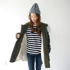 Envy Look - Faux-Fur Trim Hooded Parka