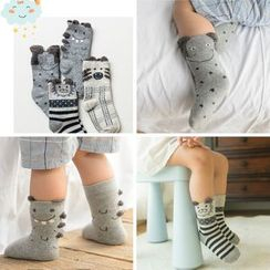 Knit a Bit - Set of 4: Animal Print Kids Socks