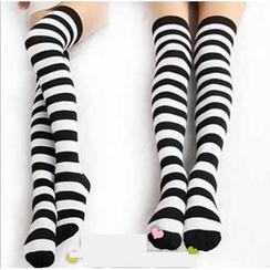 Cosgirl - 條紋及膝長襪