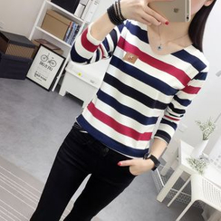 XGZ - Long-Sleeve Striped T-Shirt