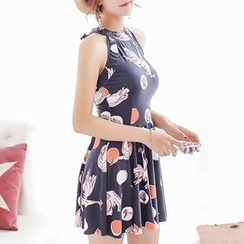 DJ Design - Floral Print Open-back Swimdress