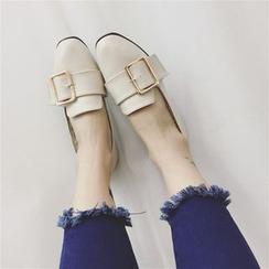 kokoin - 饰扣平跟鞋