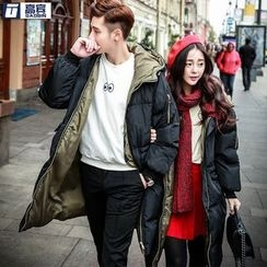 AOBIN - Couple Matching Hooded Padded Coat