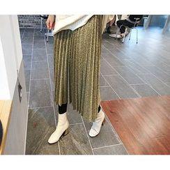 MARSHMALLOW - Pleated Glitter Skirt
