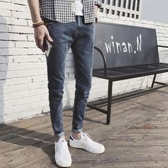 Jazzcool - Washed Slim Fit Jeans