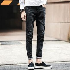 Belinsky - Distressed Washed Slim Fit Jeans