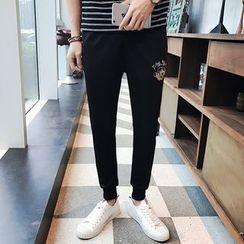 JVI - 刺绣哈伦裤