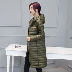 mokuchobi - Hooded Zip Padded Coat