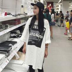 OCTALE - Long-Sleeve Print Long T-Shirt